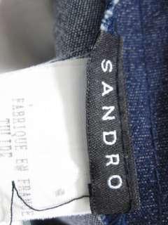 SANDRO Purple Paisley Denim Skirt Size 2