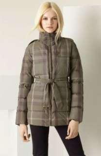 New Burberry Brit Plaid Taffeta Down Puffer Jacket XL Authentic