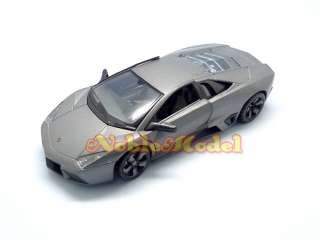 RASTAR 124 Diecast Lamborghini REVENTON   Flat Black Car Model Kit