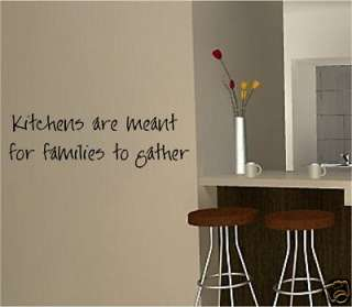 KITCHEN FAMILY TO GATHER VINYL WALL ART STICKER QUOTE
