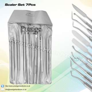 Prestige quality Dental scalers first aid single use instruments 7 pcs