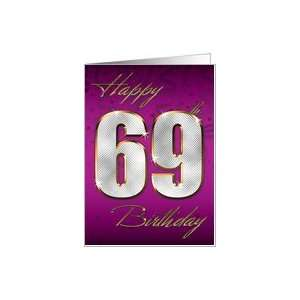 Bling Happy Birthday   69th Card: Toys & Games