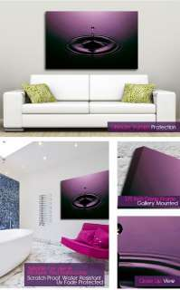 Abstract Contemporary Purple Water Drop Wall Art