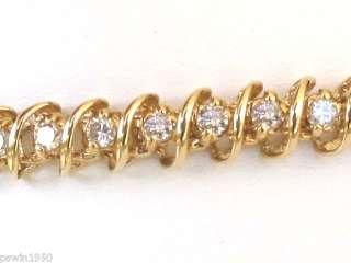 5CT DIAMOND TENNIS BRACELET 14K YELLOW GOLD NEW