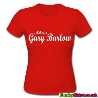 MRS GARY BARLOW TAKE THAT LOGO TOP T SHIRT WOMENS GIRLS