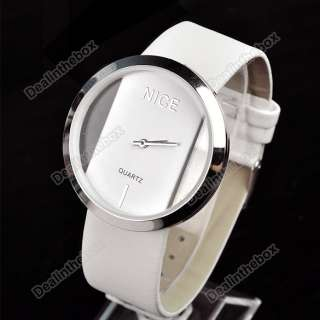 Colorful Girls BOY PU Leather Transparent Dial Lady Wrist Watch