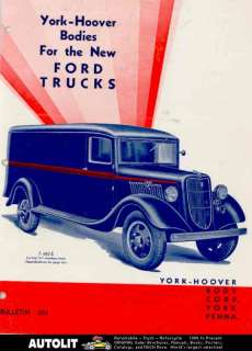 1932 1935 ? Ford York Hoover Truck Body Brochure Panel