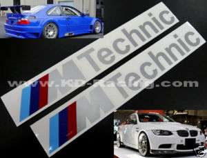 Technic Decal Sticker BMW Motorsport M3 M5 Z3 Z4 E92
