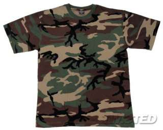 US ARMY MILITARY COMBAT T SHIRT US WOODLAND CAMOUFLAGE