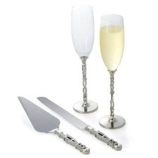 Cathys Concepts Modern Flare Bride & Groom Toasting Flutes Modern