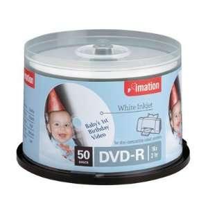 Imation Dvd R 4.7 Gb 16x Inkjet & Hub Printable White 50