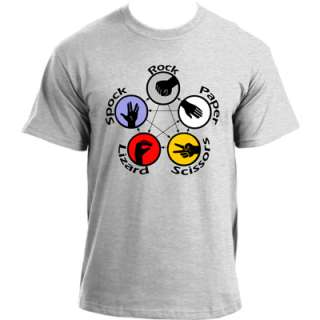 Big Bang Theory Sheldon Rock Paper Scissors Lizard Spock Tshirt