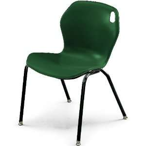 18H Intuit Stacking Chair with Powder Coat Frame   Forest