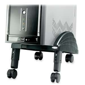 Kantek CPU Stand,Angled,Mobile,Swivel Casters,9x12x7 1/2