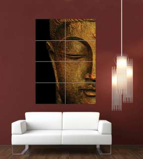 BUDDHA HEAD BUDDHIST STATUE RELIGION ICON GOD GIANT PRINT POSTER