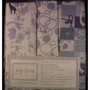 Kidsline Amy Coe Zoo Baby Receiving Blankets   Set of 3