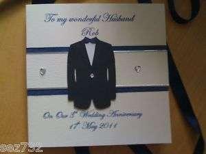 Handmade Wedding Gifts For Husband : Handmade Wedding Day Wedding Anniversary Card Husband