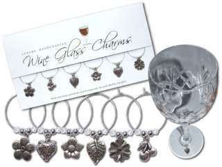 FRUITS & FLOWERS Wine Glass Charms / Table Decorations