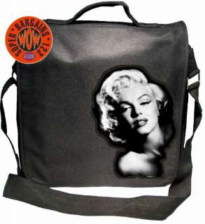 BLACK RECORD/MESSENGER/LAPTOP BAG #Marilyn Monroe 1#B44