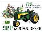 TIN SIGN,JOHN DEERE,STEP UP TO ,TRACTOR,FARM SIGN