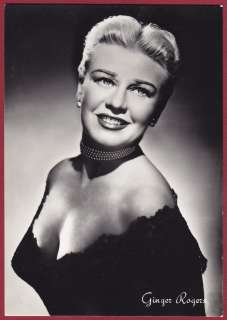 GINGER ROGERS 02 ATTRICE CINEMA MOVIE STAR DANZA FOTOGR