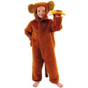 Kids Monkey Ape Chimp Fur Fancy Dress/Book Week Costume