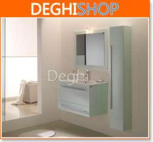 Mobile bagno sospeso Verde con lavabo e colonna cm. 60