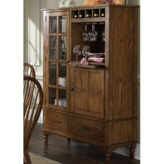LibertyFurniture Autumn Oaks Casual Dining China Cabinet in Golden