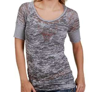 Touch by Alyssa Milano Chicago Bulls Ladies Gray Burnout T