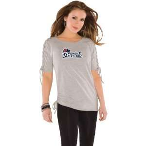 Touch by Alyssa Milano New England Patriots Womens Shoulder Lace Top