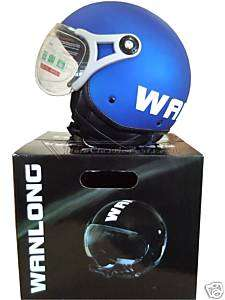 Casco Scooter WANLONG tipo MOMO Open Face Helmet NEW