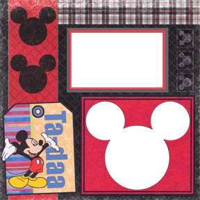 Disney Mickey & Friends Digital Premade Scrapbook Kit!