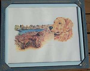 Retriever Nice framed print signed by Diana Charles, 1970s