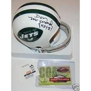 DON MAYNARD N.Y. JETS MINI HELMET w/Autograph  Sports