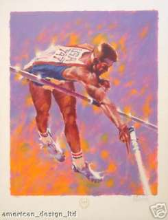 Aldo Luongo High Flyer Signed Numbered Serigraph Olympic Games