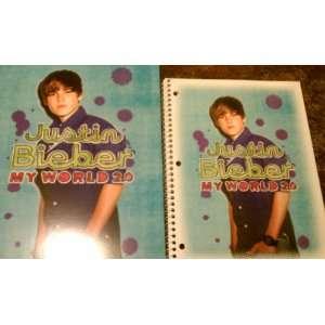 Justin Bieber Spiral Notebook and Folder