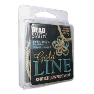 Gold Line Knitted Jewelry Wire 4 Wire Braid / 3 Feet (91