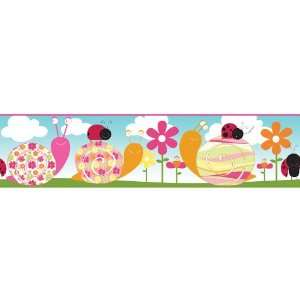 allen + roth Little Lady Bugs Wallpaper Border LW1342729