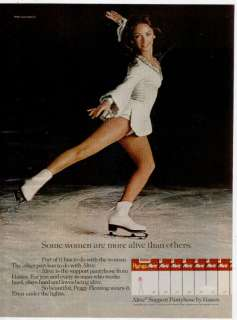 1975 HANES PANTYHOSE PEGGY FLEMING ICE SKATER PRINT AD