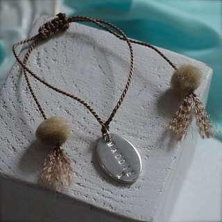 personalised silver friendship bracelet by dizzy