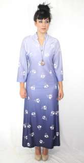 Super Model Length SPACE AGE Twiggy Retro Boho 70s MAXI Dress