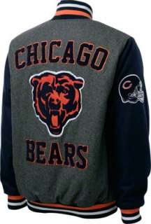 Chicago Bears Grey Wool Varsity Jacket