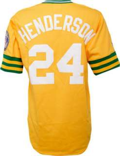 Gold Majestic MLB Cooperstown Replica Oakland Athletics Jersey