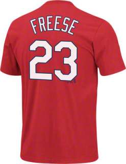 David Freese Red Majestic Name and Number St. Louis Cardinals T Shirt