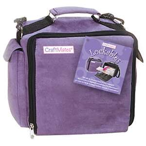 CraftMates Lockables Organizer Tote   Purple Ultrasuede at HSN
