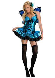 Sexy Blue Fairy Costume   Womens Adult Fairy Halloween Costumes