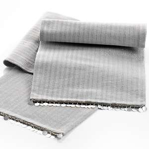 Colin Cowie Silver Thread Table Runner