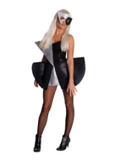 Womens Lady Gaga Black & Silver Sequin Dress TV & Movie Sexy Costumes