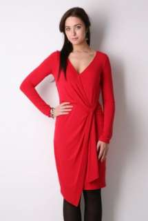 Red Long Sleeve Wrap Dress by Paul Smith Black   Red   Buy Dresses