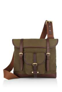 Paul Smith Accessories  Khaki Waxed Cotton Postman Harvey Messenger